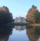 Perspective Château depuis le Miroir d'eau